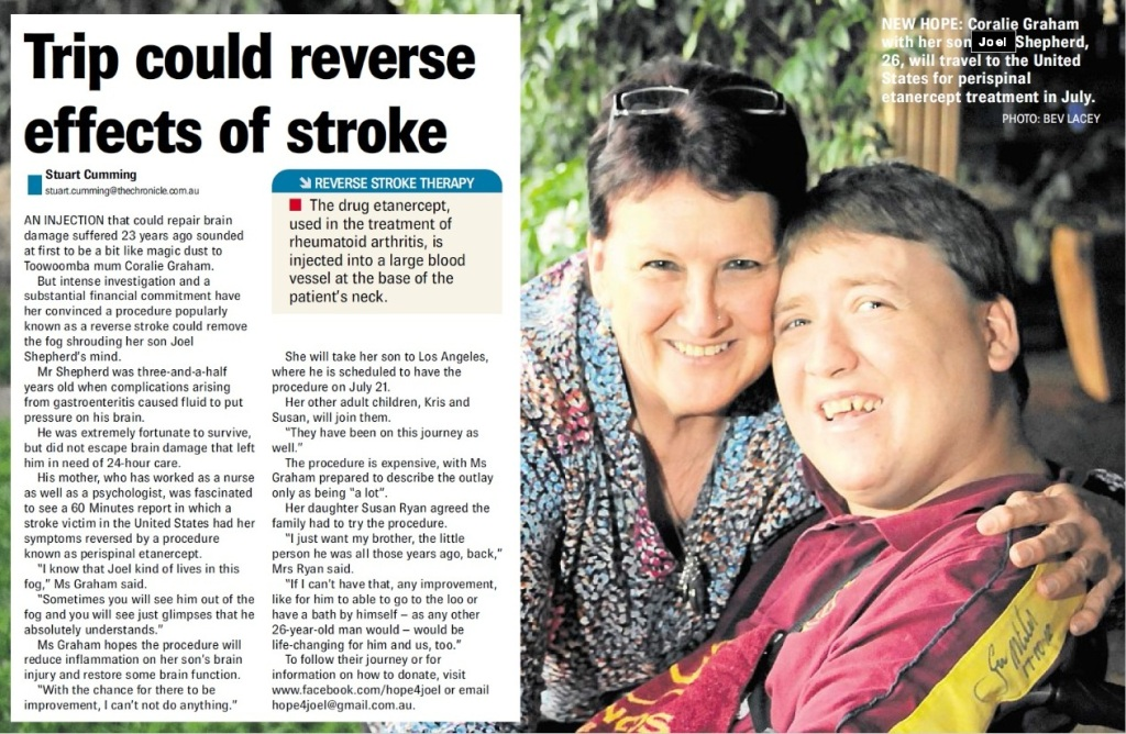 Toowoomba Chronicle story